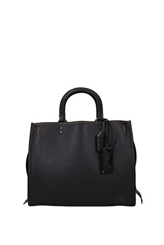 Handtaschen Coach rogue Damen - Leder (38124) Black Leather