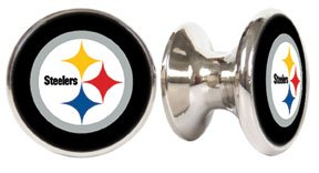 Pittsburgh Steelers NFL Stainless Steel Cabinet Knobs / Drawer Pulls (2-pack) (Nfl Drawer Knobs compare prices)