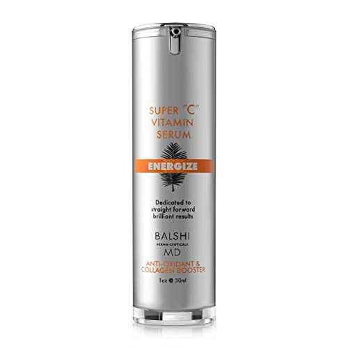 ENERGIZE Vitamin C Serum for Face & Eyes - Clinical Strength Antioxidant Collagen Booster with Vitamin E - Dermatologist Developed Skin Care For Anti-aging, Fades Dark Spots and Repairs Sun - Booster Antioxidant