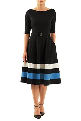 Buy belted colorblock stripe dress - 3