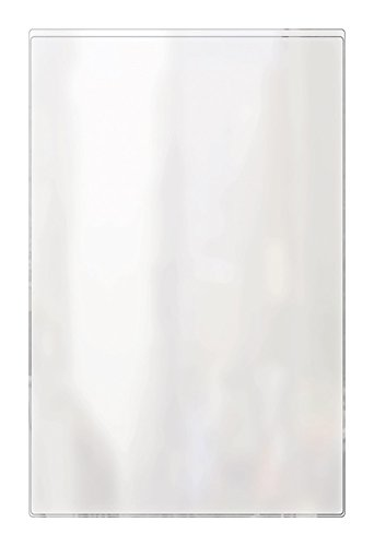 - Risch 100 5.5X8.5 Heat Sealed Vinyl Menu Cover Single Pocket 2 View, All Clear, 5.5