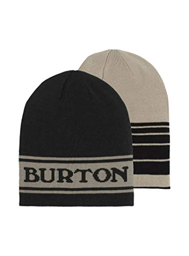 Burton Unisex Billboard Beanie, True Black/Iron Gray, One Size ()