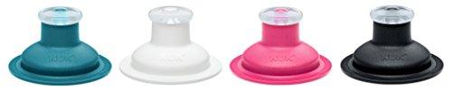 NUK Push-Pull-Tülle Silikon für Sports Cup und Junior Cup, auslaufsicher, langlebig, hygienisch, spülmaschinengeeignet, Farbe nicht frei wählbar, 1 Stück