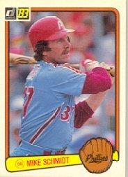 1983 Donruss Baseball Card IN SCREWDOWN CASE #168 Mike Schmidt Mint (Baseball Schmidt Card)
