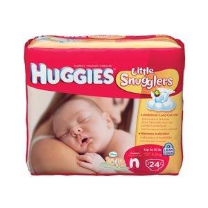 Kimberly-Clark 52238 Huggies Disposable Newborn Diaper, Up To 10 lbs. (Pack of 288)