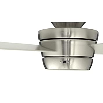 Harbor Breeze Mazon 44-in Brushed Nickel Flush Mount Indoor Ceiling Fan with Light Kit and Remote 3-Blade