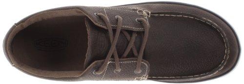 Keen Santa Cruz Lace - Pantuflas de caña alta de cuero unisex marrón