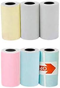 Draagbare Notities Printer Thermische Bluetooth Label Printer met 6 Drukpapier Mini Draadloze POS Thermische Afbeelding Foto Printer Zakprinter Compatibel met Smartphones