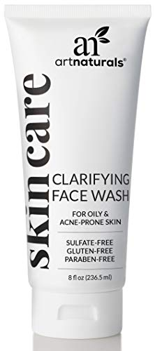 ArtNaturals Clarifying Face Wash - (8 Fl Oz / 236ml) - Deep Cleansing and Exfoliation of Blackheads and Pimples - Infused with Cucumber and Aloe for Added Hydration