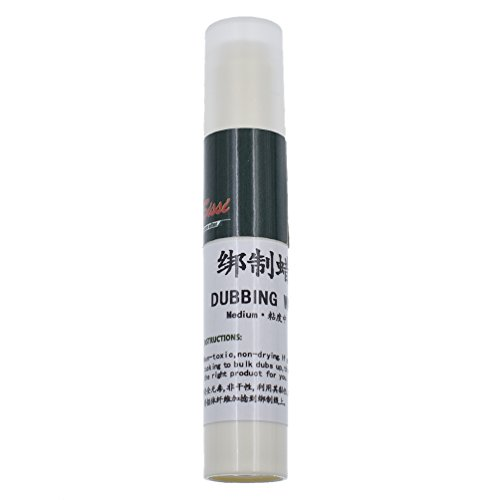Towashine 1pc Medium Tack Tube Dubbing Wax Stick for Fly Tying Dub Materials Chemistry for Fly (Dubbing Wax)
