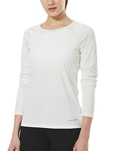 メーター割り当てますより良いバリーフ(Baleaf) レディース ランニングシャツ フィットネス 長袖 軽量 吸湿速乾 ホワイト サイズ XL