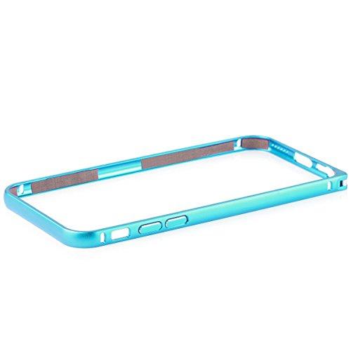 Wood Aluminum Metal Bumper Frame Case For iPhone 6 (Grey) - 2