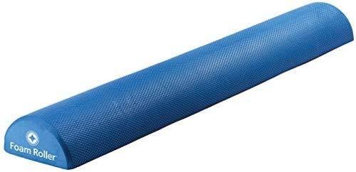 STOTT PILATES Soft Density Deluxe Half Foam Roller, Blue, ()