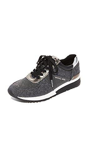 MICHAEL Michael Kors Women's Allie Trainer Sneakers, Charcoal, 5.5 B(M) - Kors Michael U