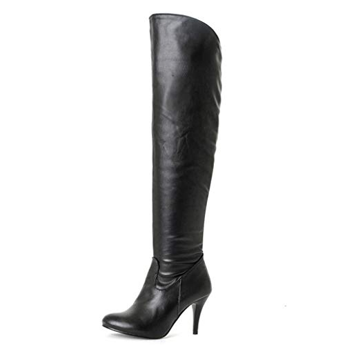 Winter High Heels Over Knee Boots Women Shoes Patent Leather Sexy Boots Pointed Toe Fashion Snow Boot