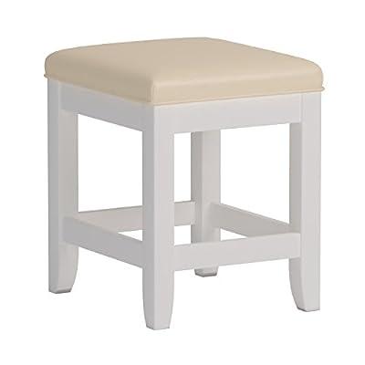 Home Styles 5530-28 Naples Vanity Bench, White Finish