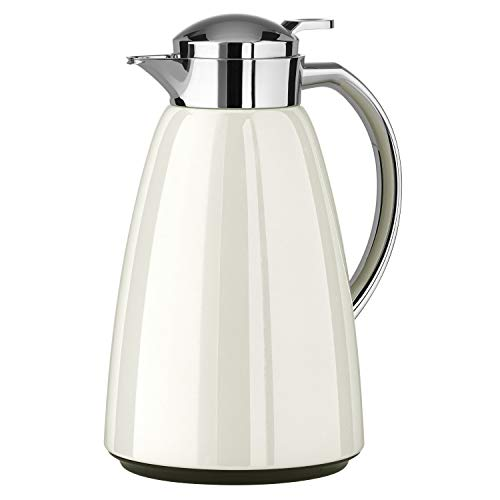 Emsa  Campo Stainless Steel Thermal Carafe with Glass Liner, 34 oz, White