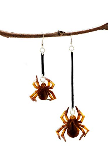 Genuine leather earring for Women -spider-o-web 2