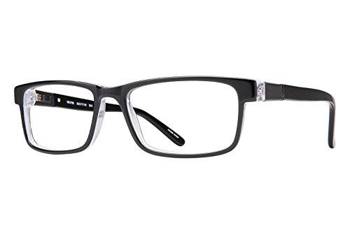 Revolution Mens Eyeglasses - Revolution 765 Eyeglass Frames - Black/Grey Clip-On