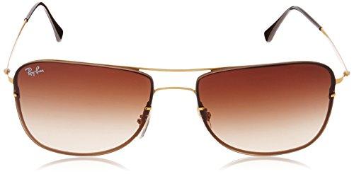 Frame Green Sunglasses Gold Tech Titanium Dark Ray Lens Ban Rb8054 Sandblasted wxqXOKKf7T