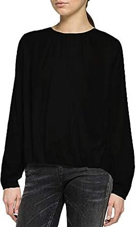 Repaly - Blusa para Mujer, Color Negro: Amazon.es: Ropa y ...