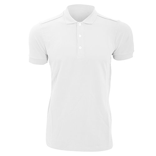 Russell Mens Stretch Short Sleeve Polo Shirt (3XL) (White)