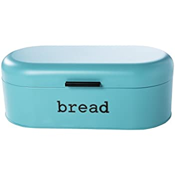 Juvale Large Bread Box For Kitchen Counter   Bread Bin Storage Container  With Lid   Metal