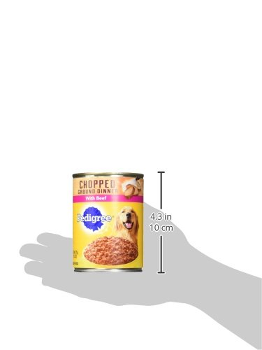 Pedigree Chopped Ground Dinner With Beef Adult Canned Wet Dog Food, (12) 13.2 Oz. Cans