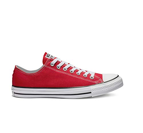Converse Unisex Chuck Taylor All Star Low Top Red Sneakers - 10 B(M) US Women / 8 D(M) US Men