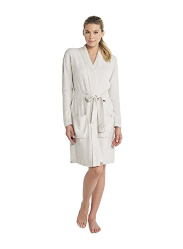 Barefoot Dreams CozyChic Lite He Ribbed Robe, Silver-Pearl, Large/X-Large by Barefoot Dreams
