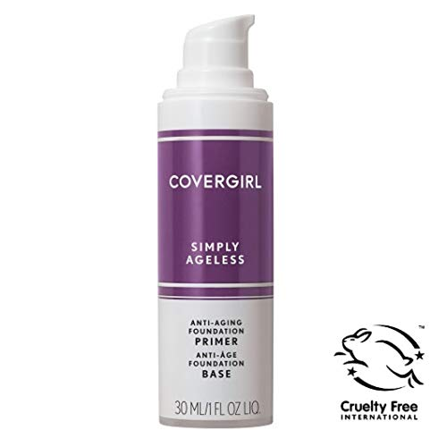 (COVERGIRL, Simply Ageless Oil Free Serum Primer for an Age-Defying, Never Pore Clogging Start to Your Makeup Routine, 1 ounce, 1 Count (packaging may vary))