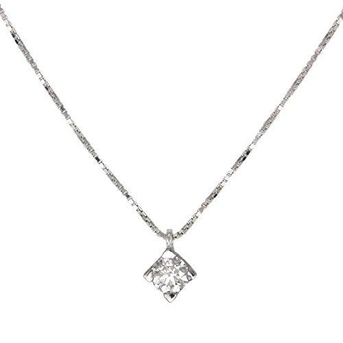 metà fuori 6790a 070f8 L'Atelier d'Azur - Collana con diamante solitario da 0,20 ...