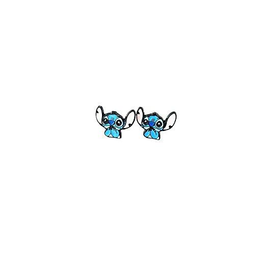 Lilo and Stitch Logo Superhero Comics Cartoon Post Stud Earrings In Gift Box