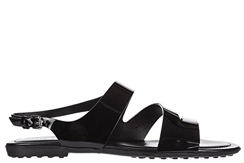Rubber Sandals Women's Black Leather Tod's ov tp6qfxw
