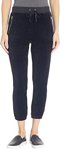 Juicy Couture Black Label Women's Velour Silverlake Sleek Fit Pant, Pitch Black ()