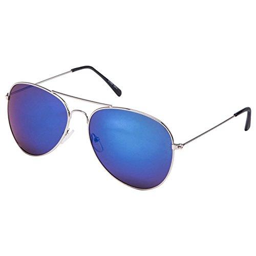 Lunette Lunettes STYLE UV®400 Soleil Vintage Design Norme Ciffre Top argenté Nerd Bleu Retro de zIA55wq