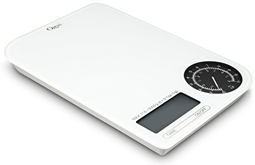 Kitchen Scale with Electro-Mechanical Weight White