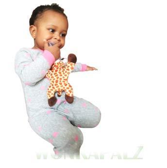 Amazon.com: Wonkapalz Peluche jirafa juguete con chupete ...