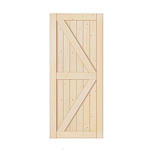 36 x 84 inch Unfinished Sliding Barn Wood Door Slab