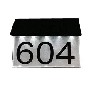 Combi Solar Address Plaque (Lighting Address Number)