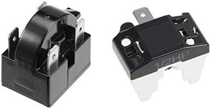 Sourcingmap - Compresor de relé para refrigerador PTC (1/6 HP, 125 ...