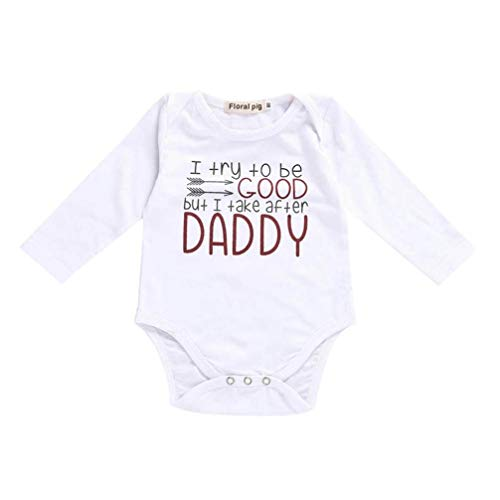 Print Screen Black White - Toddler Baby Girls Boys Cotton Romper Letter Print Soft Bodysuit Jumpsuit Outfits Casual Sunsuit One-Pieces Pajama (White, 12-18 Months)