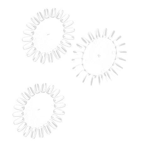 Amazon.com: Uñas postizas de visualización de uñas de acrílico ruedas eDealMax 20-uñas Muestras clavo de la plantilla 3 PCS Claro: Health & Personal Care