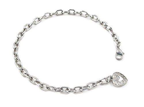 Korway Jewelry Never tarnish 7inch to 11inch stainless steel anklets bracelets adjustable for women K09