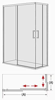 ALBAÑO (Mod. Lyon) Mampara para ducha de apertura Vertice (120 x ...
