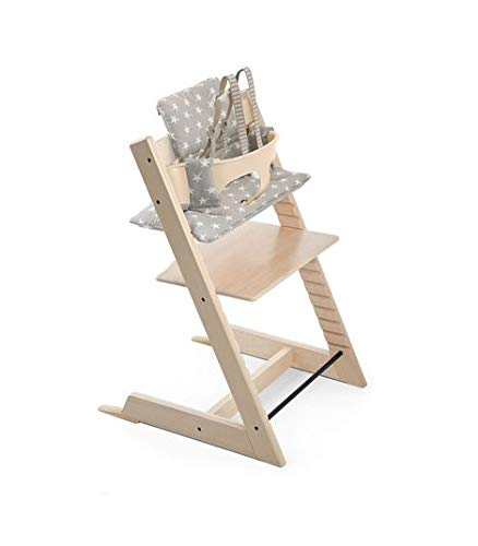 Stokke Tripp Trapp Cushion, Grey Star - Chair Not Included