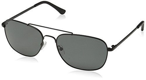 Obsidian Sunglasses for Men Aviator Polarized Rectangle Frame 05, Black, 58 mm by Obsidian Sunglasses
