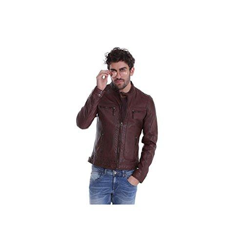 Oakwood Casey - Blouson en cuir - Homme - Bordeaux