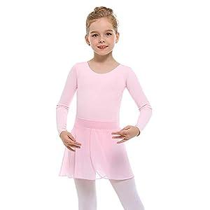 STELLE Girls Ballet Leotard with Separated Skirt for Dancing (Toddler/Little Kid/Big Kid)