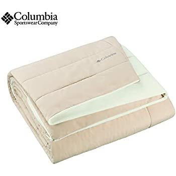 Columbia Sportswear Indoor-Outdoor Warm & Cozy Soft Fleece Throw Blanket - Zippered Pocket - Water Repellent Fabric & Carry Storage Bag - 50